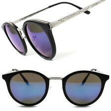 Vintage Retro 90's Urban Fashion Blue Revo Lens Mens Womens Round Sunglasses F93