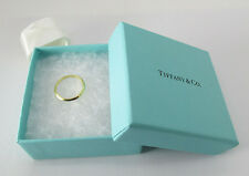 TIFFANY & CO 18k yellow gold Tiffany 750  Wedding Band size 7.5  unisex ring
