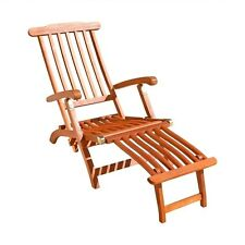 VIFAH Vifah Outdoor Wood Folding Chaise Lounges New V156 Patio Lounge NEW