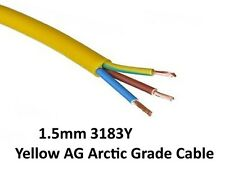 15M ARCTIC YELLOW 3183Y (AG) FLEX CABLE 3 CORE 1.5MM OUTDOOR/CONSTRUCTION