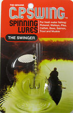THE GENUINE C.P. SWING SPINNING LURES THE SWINGER SZ-2 SILVER P-2-S 1/10 OZ.