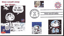 SNOOPY ON THE MOON   ONE SMALL STEP..   PEOPLE   DOGS IN SPACE  NASA   FDC- DWc