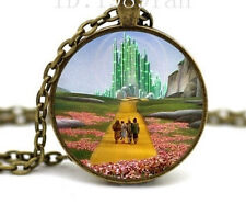 Wizard of Oz Necklace- Emerald City Necklace Glass Photo cabochon8
