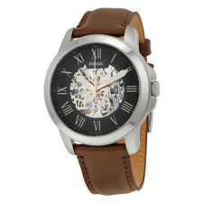 Fossil Grant Black Skeleton Dial Automatic Mens Watch ME3100