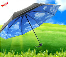 27'' Portable Anti UV Sun Mini Folding Parasols Rain Umbrella