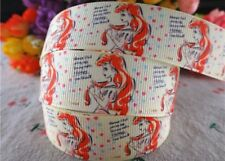"BTY 7/8"" Beautiful Ariel Grosgrain Ribbon Hair Bows Scrapbook Lanyards Lisa"