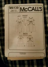 McCall's sewing pattern 6139 child's colonial costume dress age 3-8 no cover