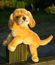 OLD STEIFF DOG 'BAZI' DACHSHOUND 1950S-1960S WITH JOINTED HEAD, MOHAIR FUR.