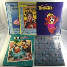 Vintage Lot of Used 80's Folders / Garfield - Gremlins - Biskitts