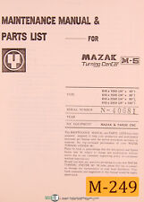 Mazak M-5, Turning Center, Maintenance and Parts List Manual Year (1979)