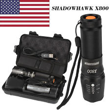 5000lm Genuine Shadowhawk X800 Tactical Flashlight LED Zoomable Military Torch