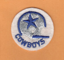 VINTAGE 1960s DALLAS COWBOYS PATCH 1 BAR HELMET LOGO UNSOLD STOCK