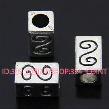 P427 12pc Tibetan Silver Charm Flowers String Spacer Beads accessories wholesale