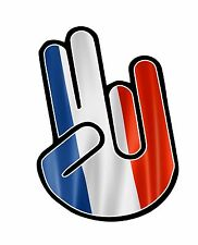 The SHOCKER Hand With France French Country Flag vinyl car sticker decal