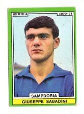 CALCIO  FIGURINA CALCIATORI  EDIS 1970-71  SAMPDORIA  SABADINI   NON DA RECUPERO