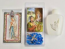 Lourdes Holy Water & Rosary Gift Set.