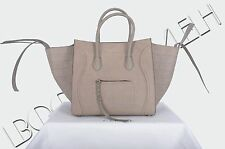 CELINE PARIS 3250$ New Medium Beige Nubuck Crocodile Phantom Luggage Bag