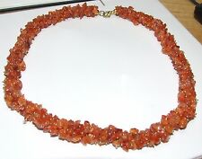 Natural carnelian necklace... tumbled drilled beads..337 carats!