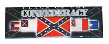 American Civil War Flags Of The Confederacy Metal Fridge Magnet NEW
