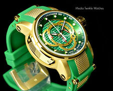 Invicta S1 Rally 18k Gold Tone Swiss Made Chronograph Green Carbon Dial Watch