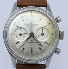 VINTAGE Girard Perregaux 37mm Steel Mens Chronograph Watch EP4 Excelsior Park