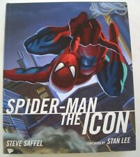 SPIDER-MAN THE  ICON    SIGNED  by  STEVE SAFFEL  Hardcover First  Edition