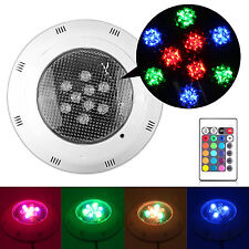 LED RGB 5 Colors 12V Underwater Swimming Pool Bright Light + Remote Control