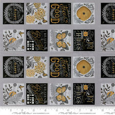 "MODA Quilt Panel ~ BEE INSPIRED ~ by Deb Strain (66790 12) Pebble Grey 24"" x 45"""