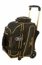 "NEW XSTRIKE 2/3 DELUXE ROLLER BOWLING BAG BK/GOLD WITH ""FREE"" ADD-A-BAG"