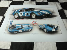 SHELBY COBRA DAYTONA COUPE FORD LE MANS DAN GURNEY 1965 NEW PAINTING PRINT ART +