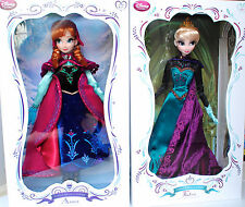 Disney Store Elsa Coronation & Anna Snow Gear Doll Set Frozen Limited Edition
