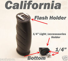 2 in 1 Flash light accessories Handle Hand Holder Grip Camera Camcorder 1/4""