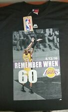 Kobe Bryant Remember When 60 Points Staples Center Black Shirt Lakers Final, Sm
