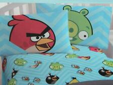 Angry Birds Twin Fitted Sheet & Pillowcase Set Micro Mink Plush Kids Bedroom New