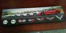 Corvette wall art picture C1-C7 VERY NICE! Garage sign man cave C6 C5 C4 C3 C2