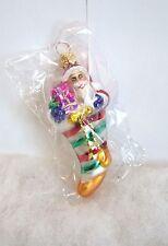 Radko Ornament Gem Put The Loot In The Boot 999570 Santa Stocking NIB/SEALED R39