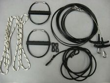 HOBIE CAT 14 Trapeze Wires Kit Pair (2) New with Handles Shock cord rope locks