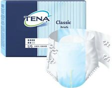 100/Case Tena Classic Briefs, Large, Heavy Absorbency, Adult Protective Diapers