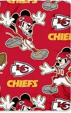 "Kansas City Chiefs Mickey Mouse 50"" x 60"" Fleece Throw Blanket"