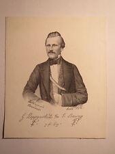 Jena - Burschenschaft Teutonia - 1854 - G. Hoppenstedt aus Wöltingerode mit Band