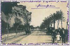 CARTOLINA d'Epoca GENOVA città  - CIRCONVALLAZIONE  1915 - FOTOGRAFICA