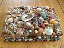 Handcrafted Wooden Shell Trinket Jewellery Storage Box Sea Beach Maritime Ornate