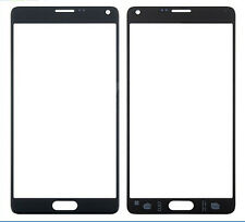 Black Samsung GALAXY Note 4 SM-N910 Front Screen Glass Lens Replacement