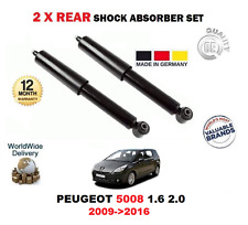 FOR PEUGEOT 5008 1.6 2.0 2009->2016 2 X REAR AXLE SHOCK ABSORBER SET