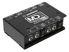 New Samson MD2 Pro Stereo Passive Direct DI Box w/ Shielded Transformer MD-2 PRO