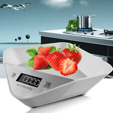 5kg/11lb. Compact Digital Kitchen Weight Scale Electronic Diet Food w/ Batteries