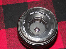 Ricoh Rikenon 50mm 1:2 Pentax K mount lens  plus filter cap