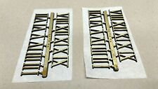 """3/4"""" Self-Adhesive Gold-Colored Roman Clock Numbers NEW 2 SETS USA made"""