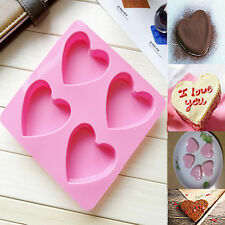 Lovely Heart Silicone Fondant Mold Cake Decor Chocolate Baking Soap Ice Mould