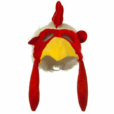 Chicken Hat with Mask Fun Furry Animal Hat Crazy Hat Day Rooster Hat